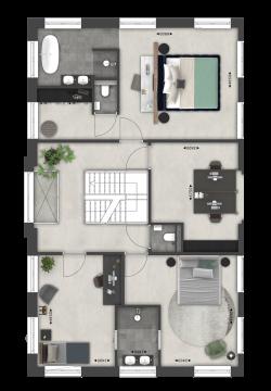Villa Vechtvoorde 1e verdieping